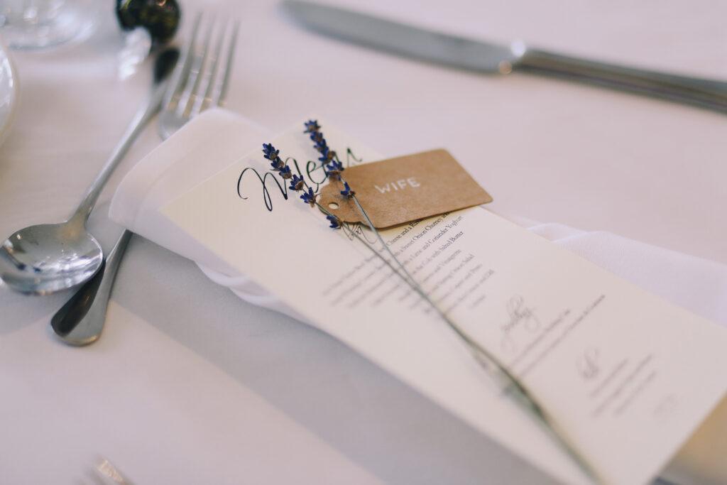 Menù tavolo matrimonio
