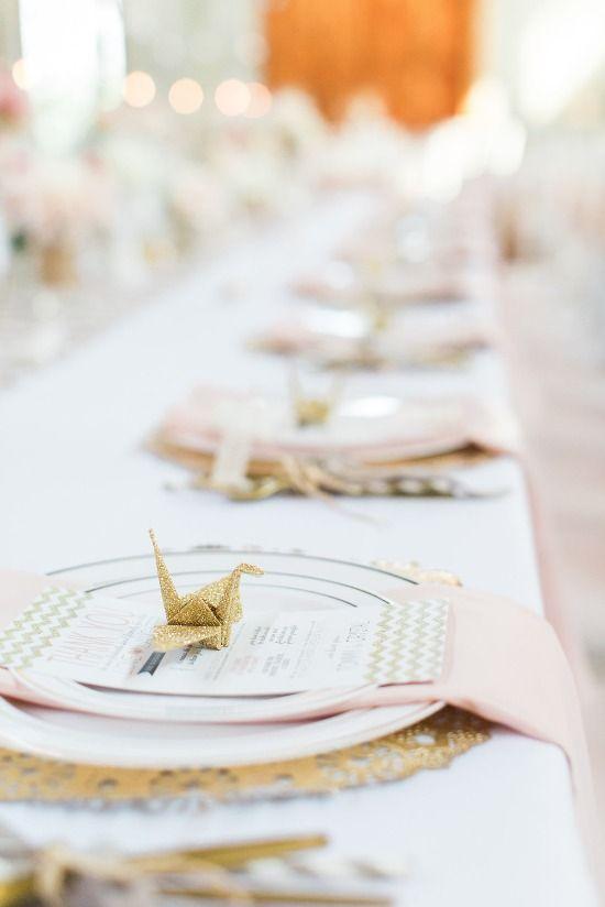 Matrimonio tema origami