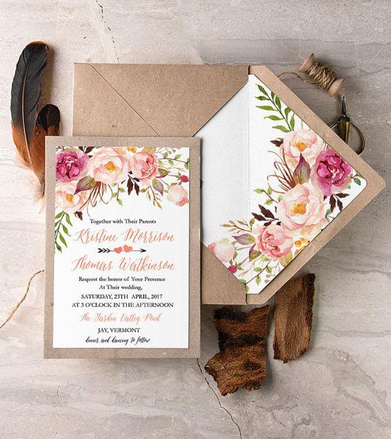 partecipazioni floreali matrimonio