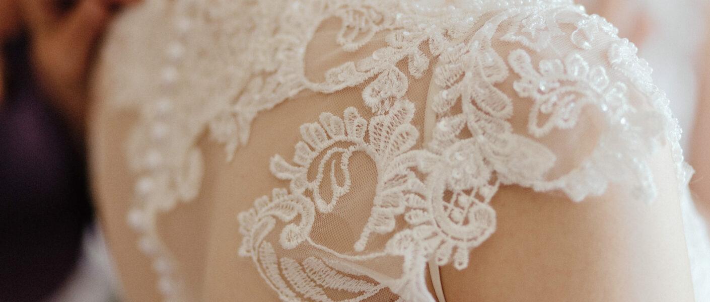 Dettagli abito da sposa
