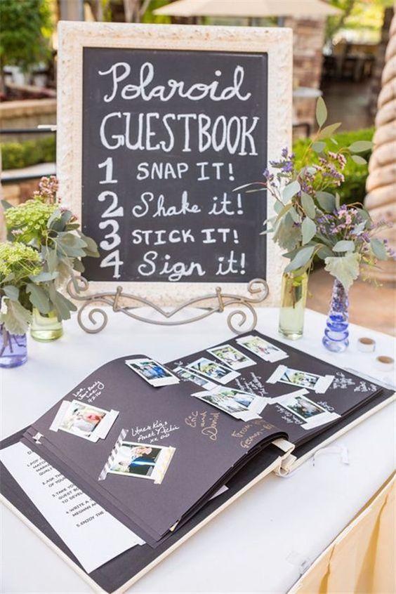 Guestbook con polaroid
