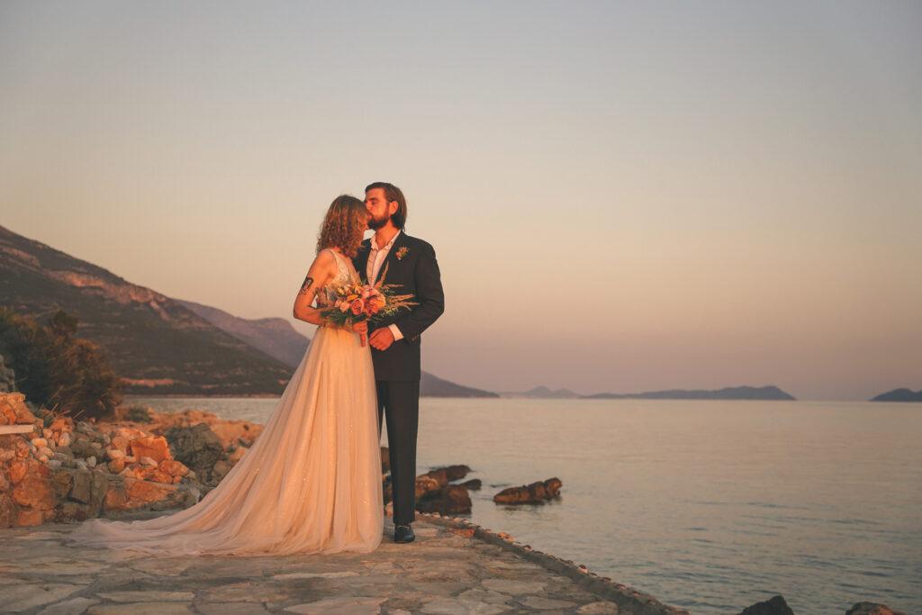 Sposi sul molo