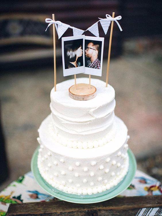 Cake topper con foto